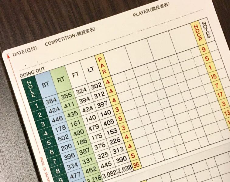 ゴルフスコア管理